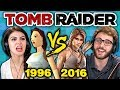 TOMB RAIDER ORIGINAL GAME vs TODAY (1996 vs 2016) (Teens React: Gaming)