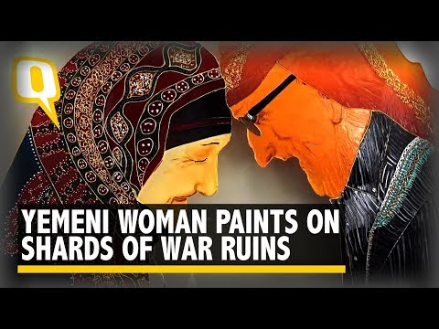There's Beauty in War Ruins, This Yemeni Woman Shows Through Art | The Quint