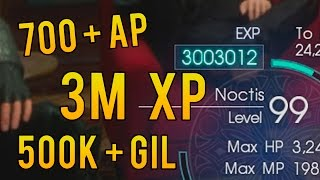XP & GIL Farm. 3 Million XP. 700 AP - 1.05 Update Level 120 - Final Fantasy XV | Non Glitch Exploit
