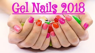 Gel Nails 3D Designing At Home New Tips 2018  💓💝