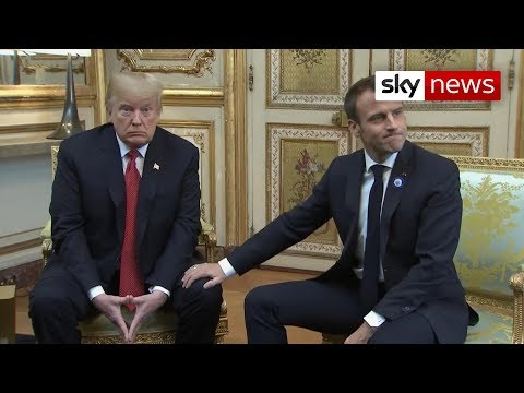 Donald Trump and Emmanuel Macron turn frosty
