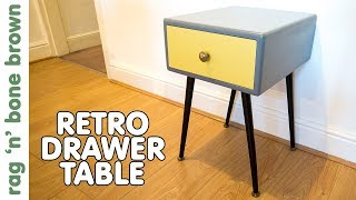 In this video I make a retro / vintage style side table with a drawer... Or it could be a bedside table... I haven