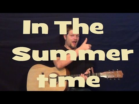 In the Summertime (Mungo Jerry) Easy Strum Guitar Lesson Licks Tab How to Play Tutorial