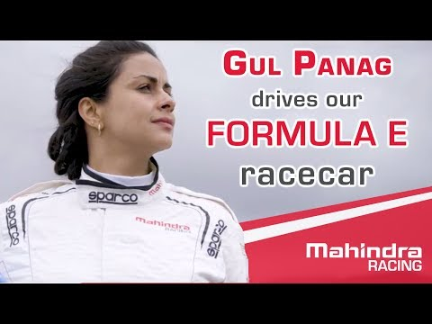 Gul Panag drives Mahindra Racing's Formula E racecar - The M4Electro