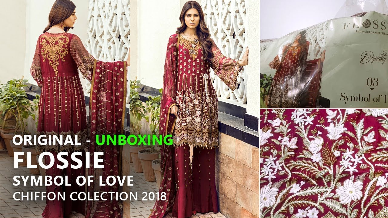de71bef0b8 Flossie Chiffon Collection 2018 - Unbox Symbol of Love FC3 - Pakistani  Bridal Dresses