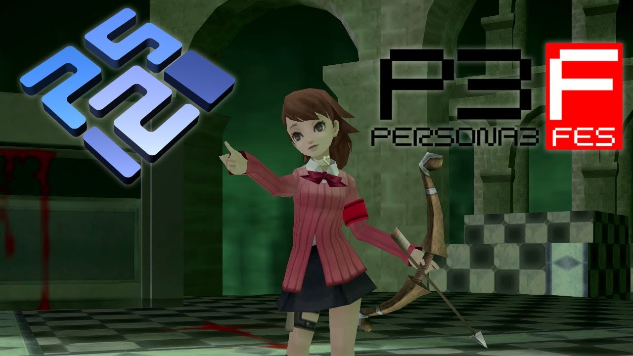 Persona 3 FES HD - Controllable Party Mod Gameplay - PCSX2 - PS2 Emulator