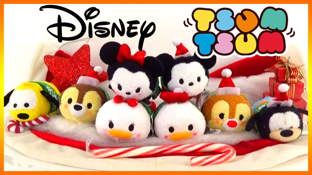 Disney Tsum Tsum Christmas Collection with Mickey Minnie Pluto ...
