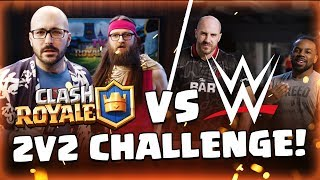 WWE Superstars 💪 VS Clash Royale Dev Team 🤓 (Cesaro & Xavier Woods)