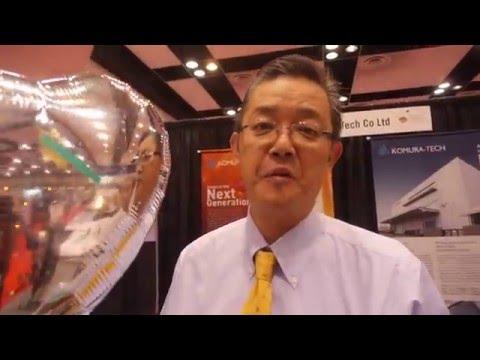 Komura Tech 2µm Printed Electrodes and Bio-sensors at Printed Electronics USA