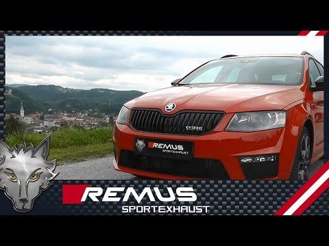 Skoda Octavia III RS/VRS with REMUS cat-back sport exhaust