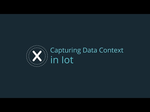 Capturing Data Context in IoT