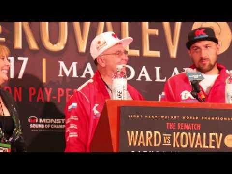 Dramatic Main Events, Kovalev post-fight press conference #WardKovalev #boxing