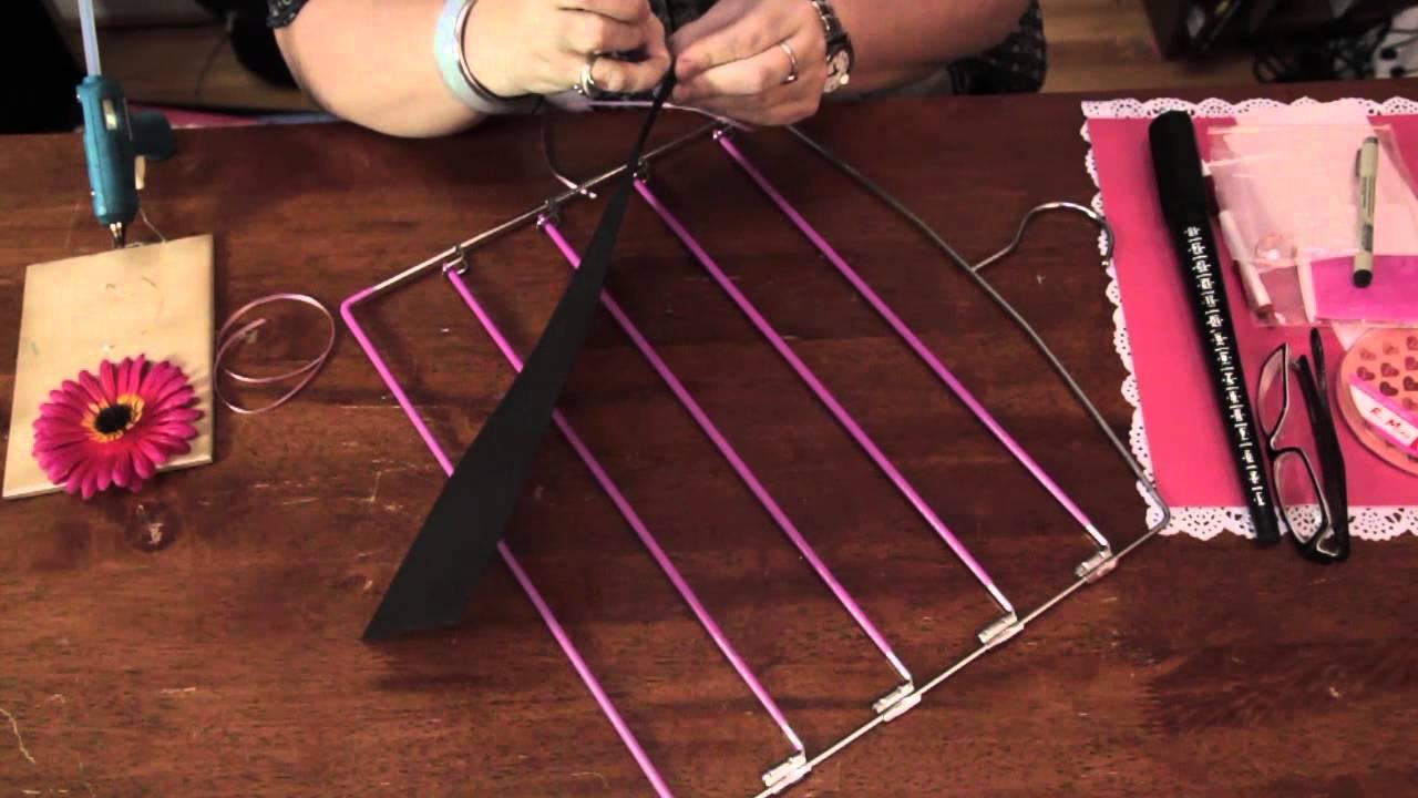 Handmade Earring Holder From A Hanger Homemade Crafts Youtube