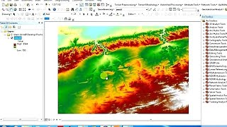 DEM Clipping in ArcGis with Symbology Change & Coordinates