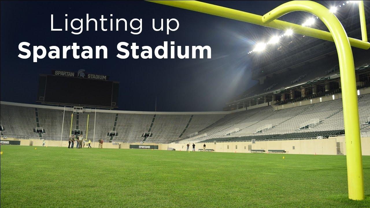 Lighting Up Spartan Stadium