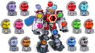 PowerRangers UchuSenTai KyuRanger Ultimate KyuTamaJin Twelve Voyager Tama Docking Transformation