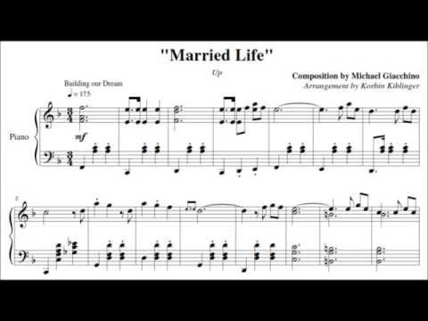 "Disney's Up: ""Married Life"" - (Solo Piano Sheet Music)"