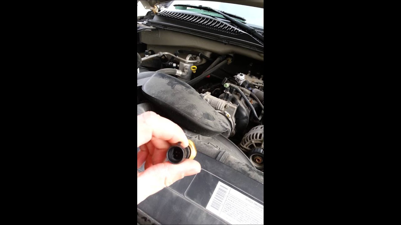 How to change oil pressure sensor on chevy 2500 YouTube