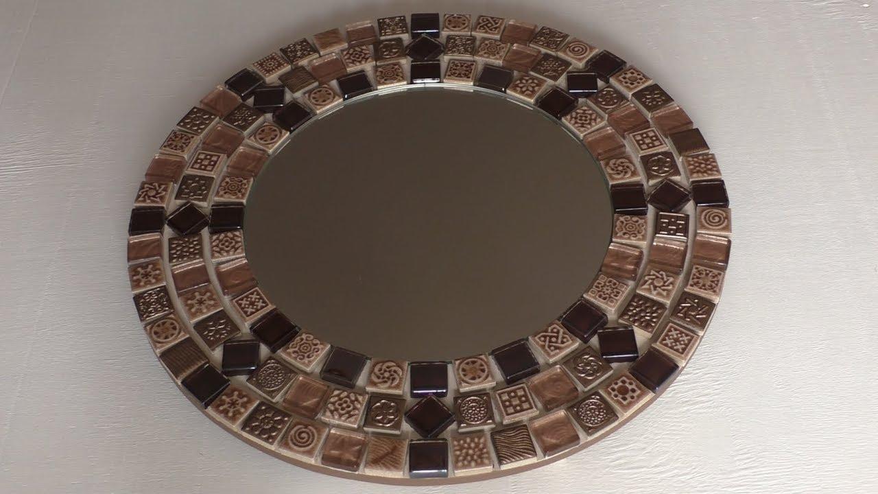 рама для зеркала из мозаики своими руками - YouTube