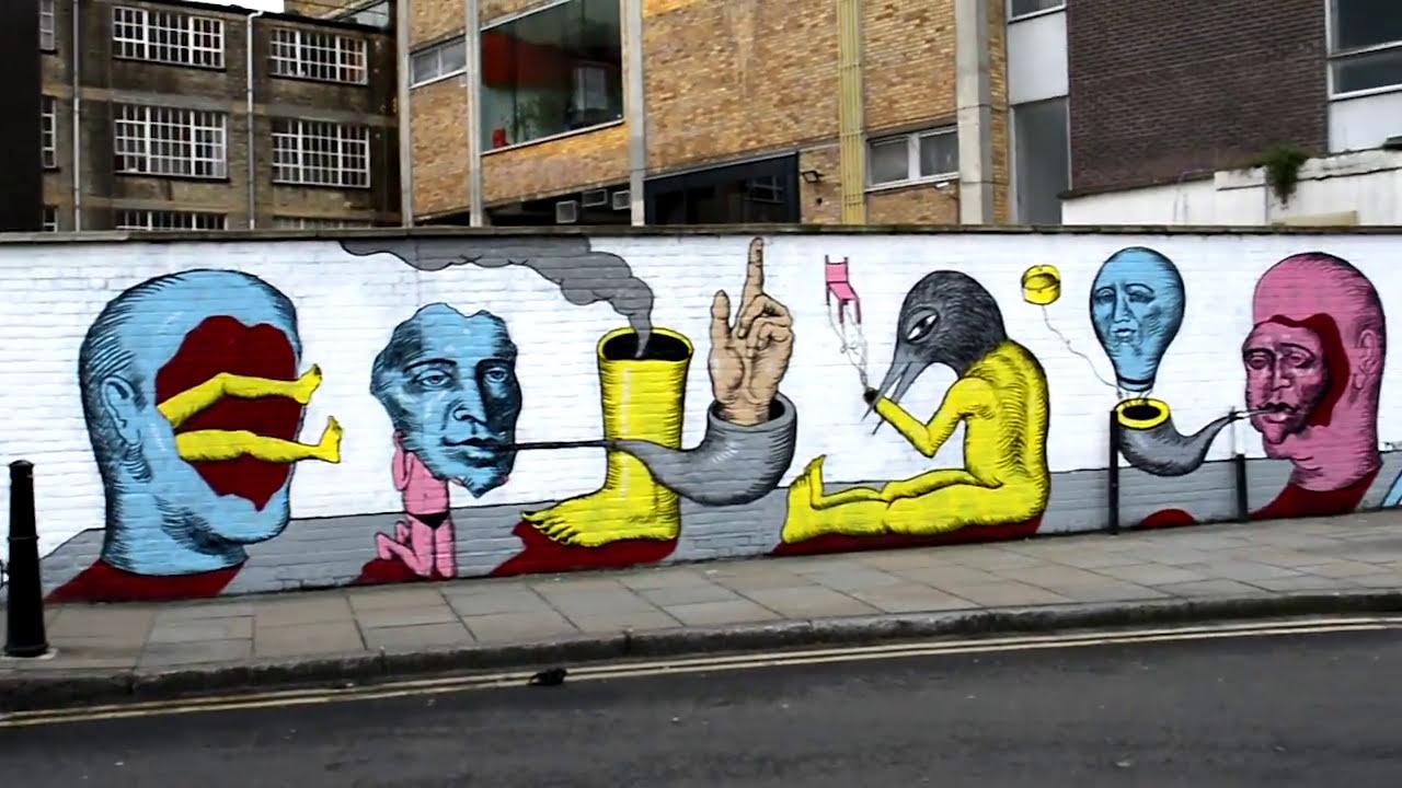 Graffiti Tour At Shoreditch Brick Lane London 2017 Youtube