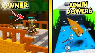 ADMIN POWERS WITH OWNER! (ChillThrill709) | Build A Boat For Treasure ROBLOX