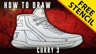 How To Draw: Curry 3  + GIVEAWAY!! w/ Downloadable Stencil