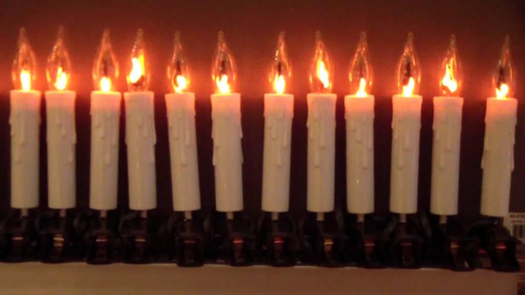 guirlande lectrique bougies flamme youtube. Black Bedroom Furniture Sets. Home Design Ideas