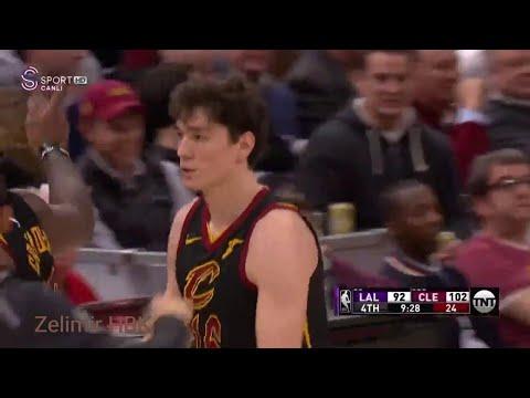 Cedi Osman'ın 4 sayılık Lakers maçı performansı [Asistler LeBron James ve Dwyane Wade'den]