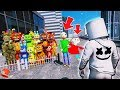 CAN MARSHMELLO SAVE ALL THE ANIMATRONICS FROM BALDI & PLAYTIME? (GTA 5 Mods FNAF Kids RedHatter)