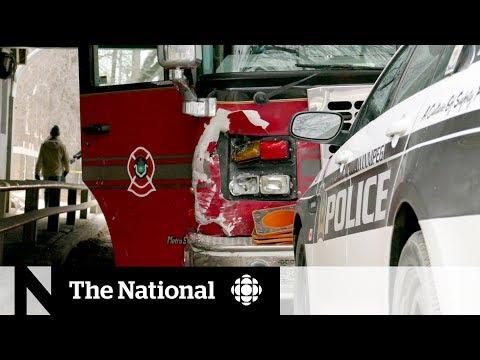 Stolen fire truck swerves toward pedestrians in Winnipeg