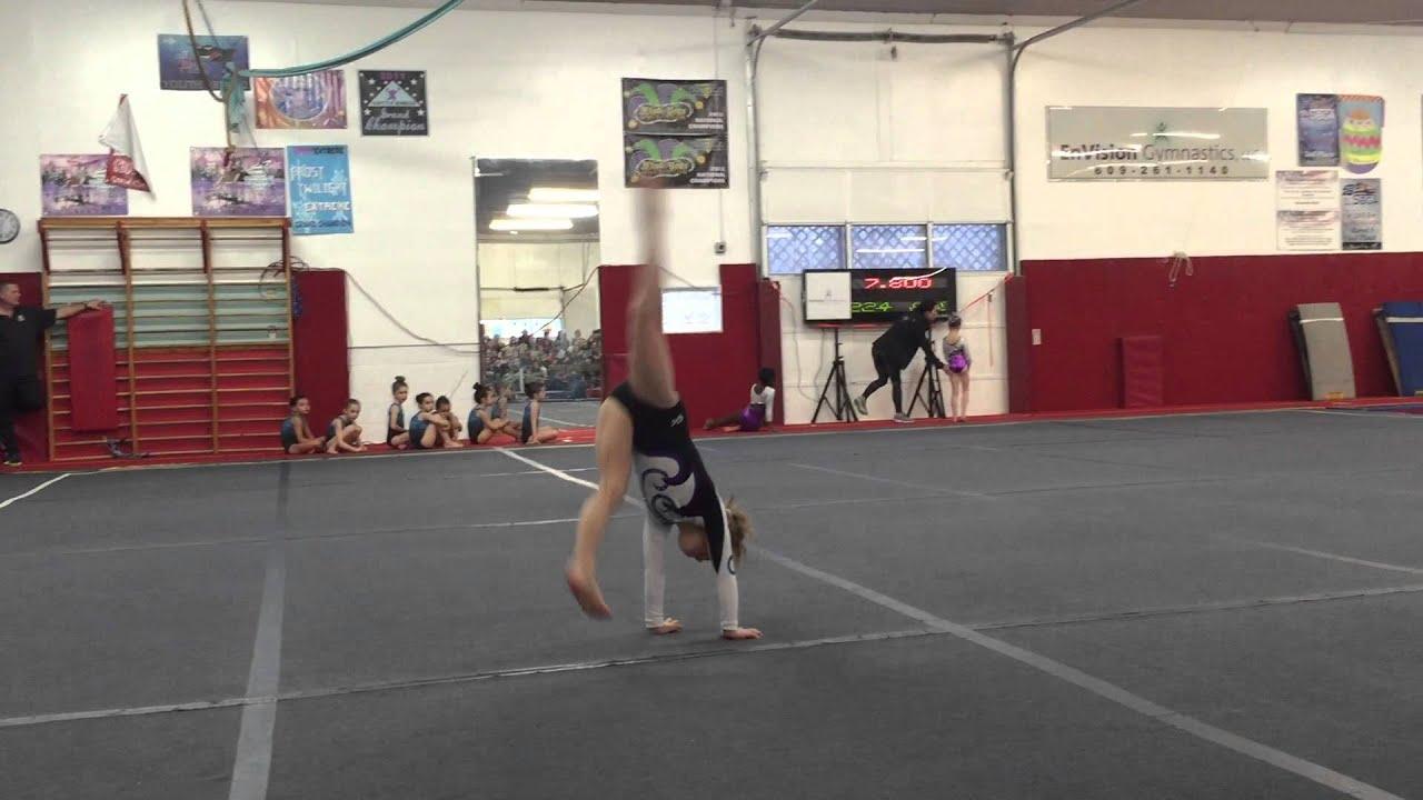 Gymnastics Level 2 Routine Bar Beam Floor Maya 2017