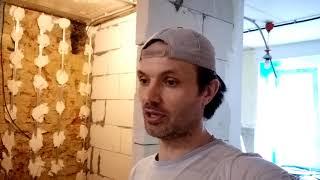 Обзор выполненых работ  Идеальная кладка перегородки из газоблока  Как проверять качество стен