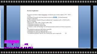 moteur asynchrone exercice d'application ( examen théorique)