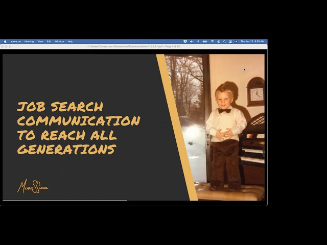 Job Search Communication to Reach All Generations