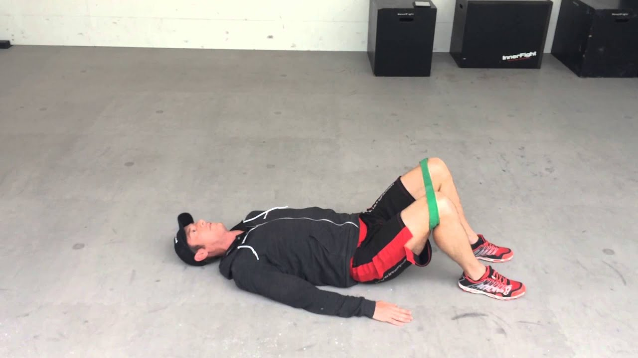 Glute Bridge With Abduction Youtube