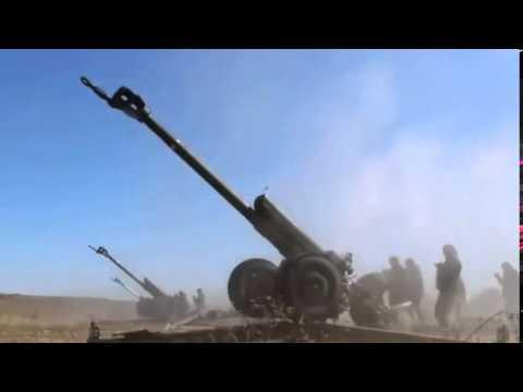 Артиллерийский обстрел украинской