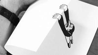 ОПТИЧЕСКИЕ ИЛЛЮЗИИ на БУМАГЕ !!!(Бумажные изгибы - всё что нужно для создания оптических иллюзий. Кто бы мог подумать, что с помощью бумажных..., 2015-12-06T20:36:55.000Z)