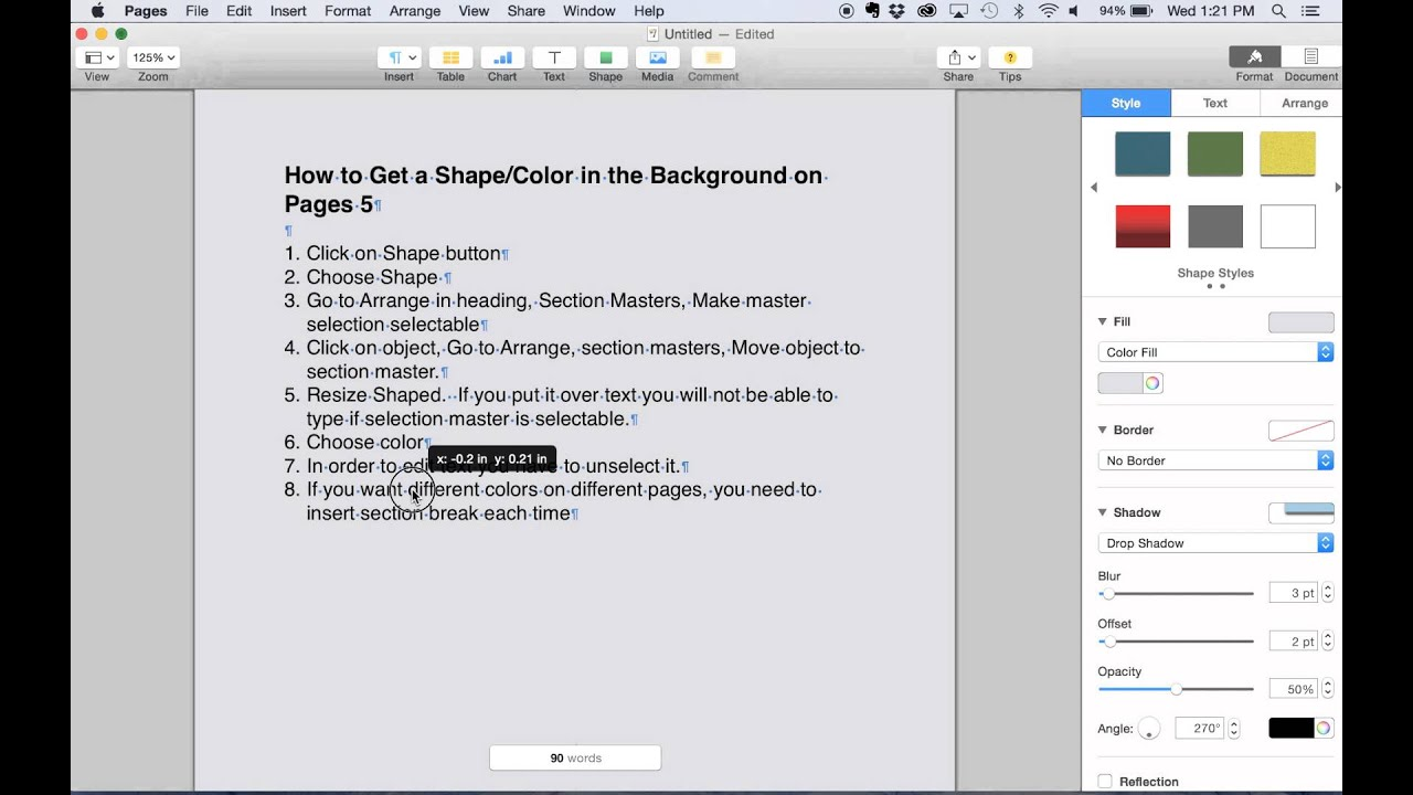 Uncategorized Apple Pages Background Color color background in apples iwork pages 5 youtube 5