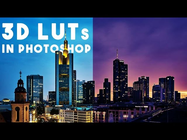 Create and apply custom LUTs in Photoshop. Color grading in Photoshop