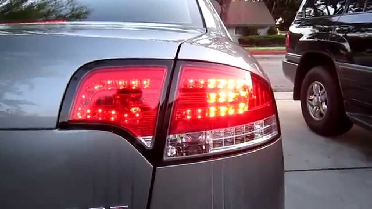 Audi A4 S4 Rs4 B7 Red Clear Led Tail Lights 05 08 Youtube