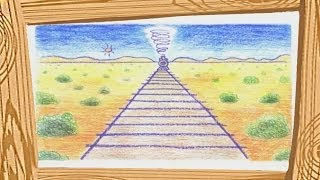 How to Draw a Landscape - Danny and Daddy