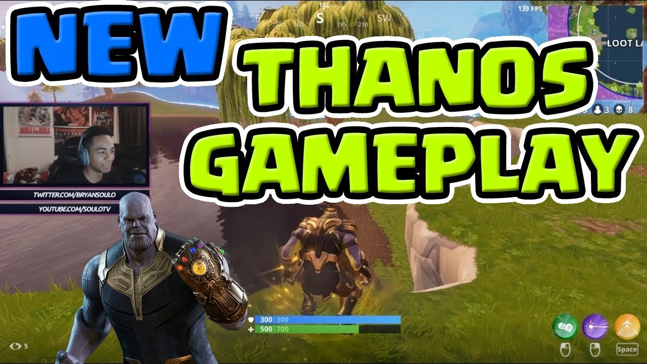 New Thanos Fortnite Full Gameplay Destroying The Entire Lobby Fortnite Battle Royale