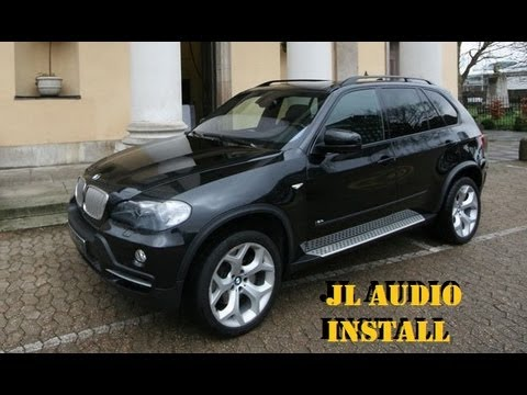 builds: bmw x5 amp and sub install (jl audio) | anthonyj350