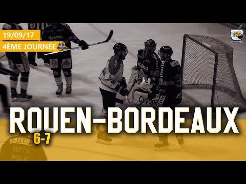 Hockey : Rouen - Bordeaux Ligue Magnus 2017/2018 Jour 4