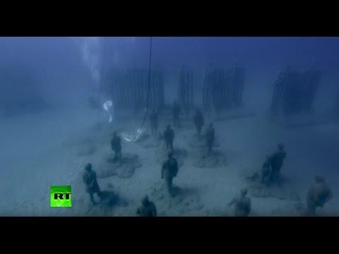 Atlantic museum europe 39 s first underwater museum opens in for Spain underwater museum