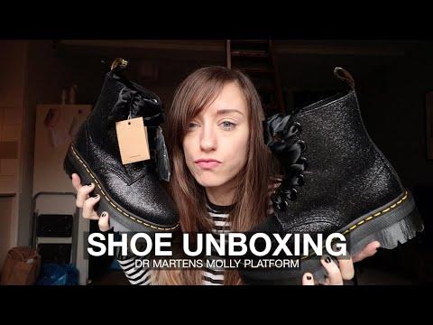 Dr Martens Glitter Molly Platform Boots