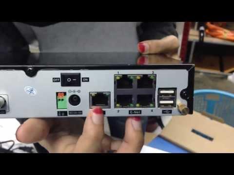 ชุดกล้องวงจรปิดระบบไอพี IP Camera with POE NVR04S ยี่ห้อ ACEEST