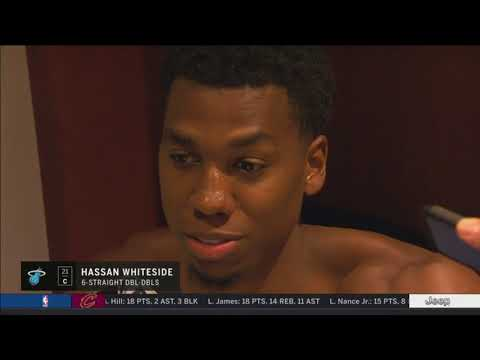 Hassan Whiteside -- Miami Heat at New Orleans Pelicans 02/23/2018