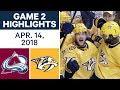 NHL Highlights | Avalanche vs. Predators, Game 2 - Apr. 14, 2018