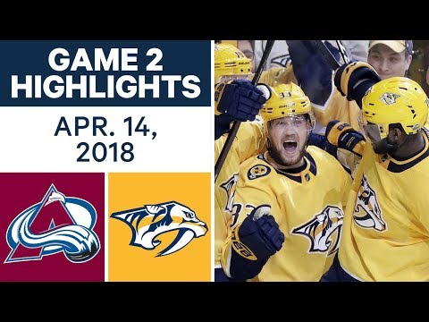 NHL Highlights | Avalanche vs. Predators, Game 2 - Apr. 14, 2018